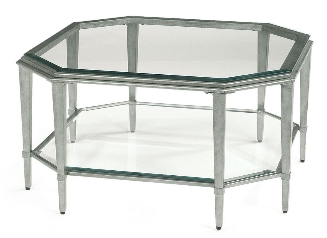 Prism Contemporary Square Glass Cocktail Table By Flexsteel