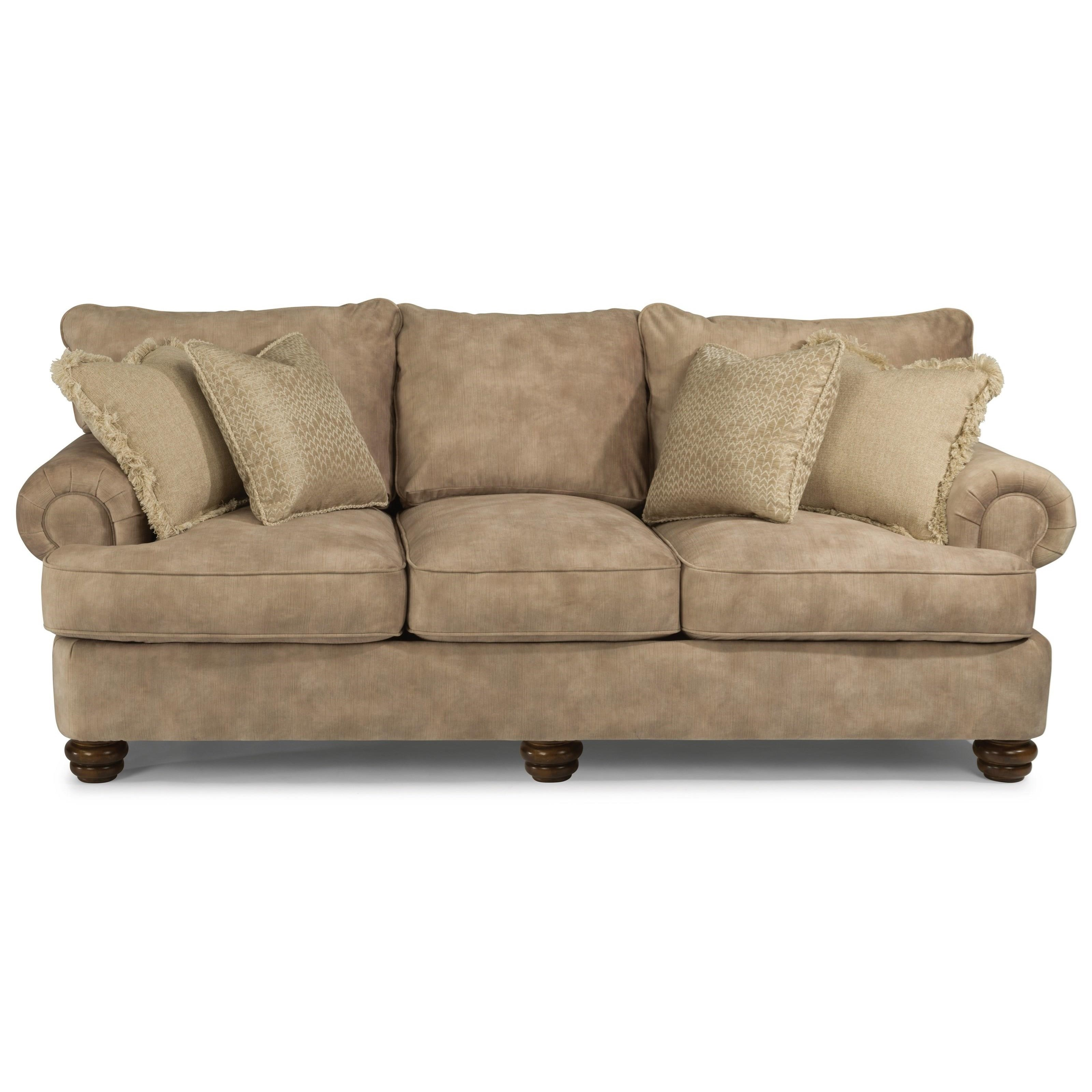Flexsteel Providence Traditional Sofa With Bun Feet | Colderu0027s Furniture  And Appliance | Sofas