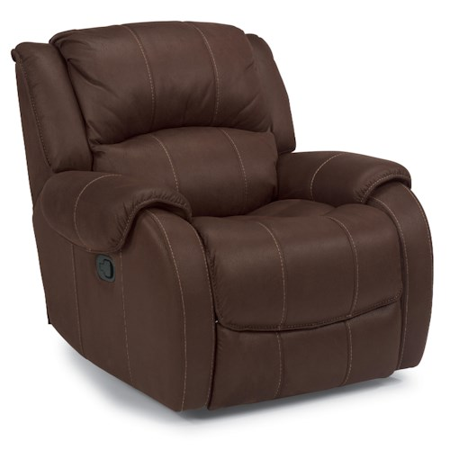 Flexsteel Latitudes -Pure Comfort Glider Recliner with Pillow Top Arms
