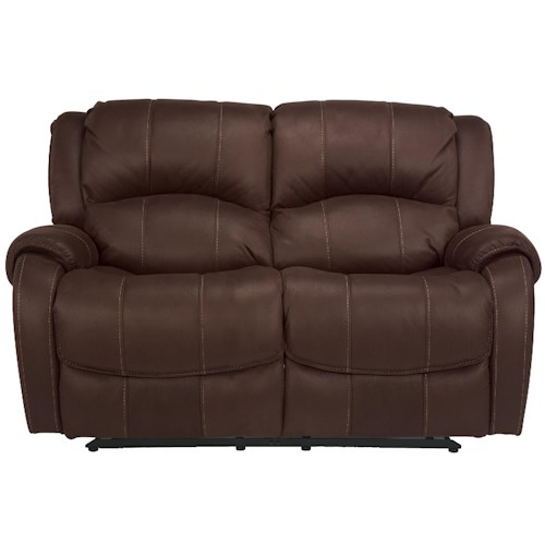 Flexsteel Latitudes -Pure Comfort Double Reclining Love Seat with Pillow Top Arms