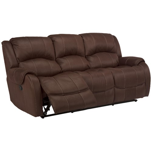 Flexsteel Latitudes -Pure Comfort Double Power Reclining Sofa with Pillow Top Arms