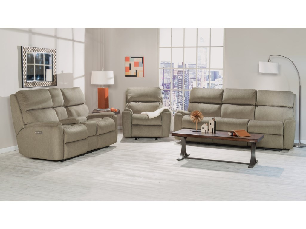 Flexsteel ValorPower Reclining Living Room Group