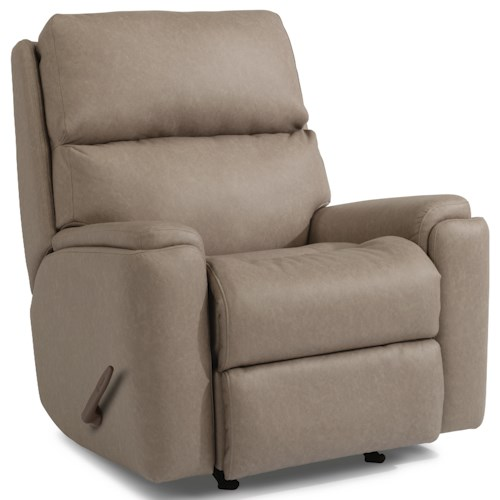 Flexsteel Rio 2904 Casual Swivel Gliding Recliner with Pillow Arms