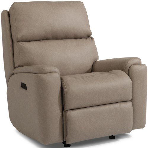 Flexsteel Rio 2904 Casual Power Recliner with Power Headrest and USB Port