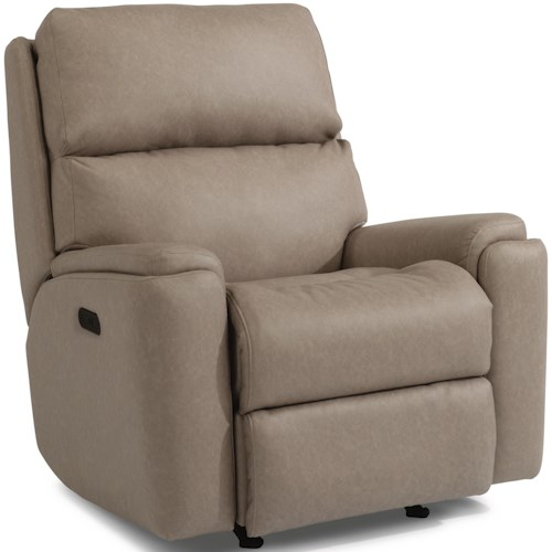 Flexsteel Rio 2904 Casual Power Rocking Recliner with Power Headrest and USB Port