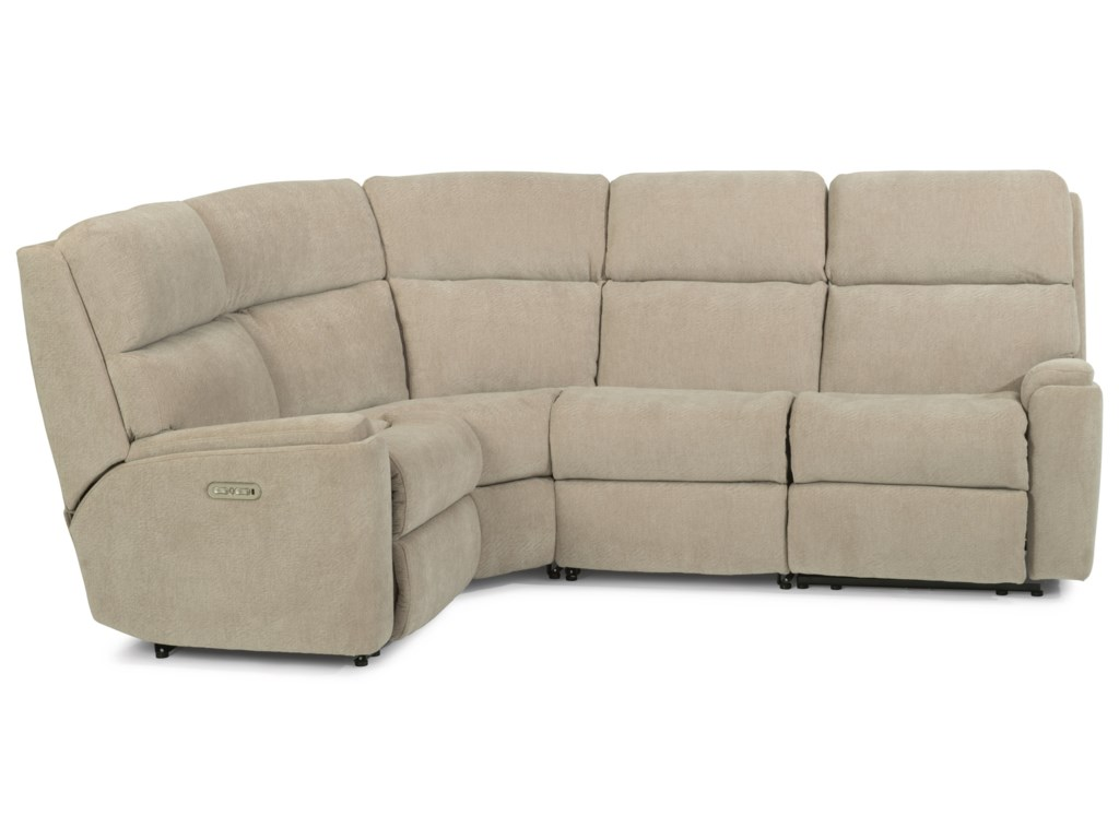 Flexsteel Rio5 Piece Power Reclining Sectional