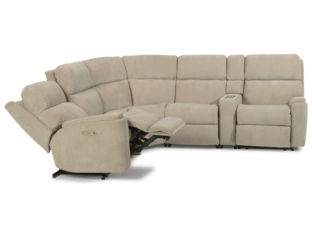 Flexsteel Rio6 Piece Power Reclining Sectional