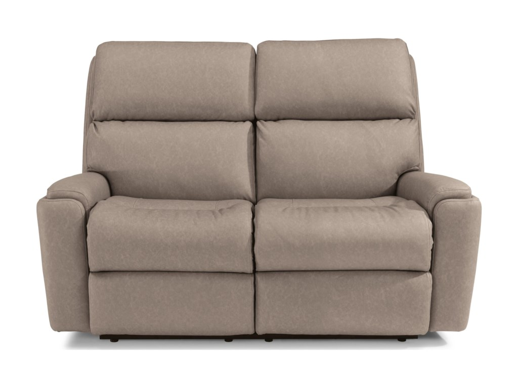 Flexsteel RioPower Reclining Loveseat with Power Headrest
