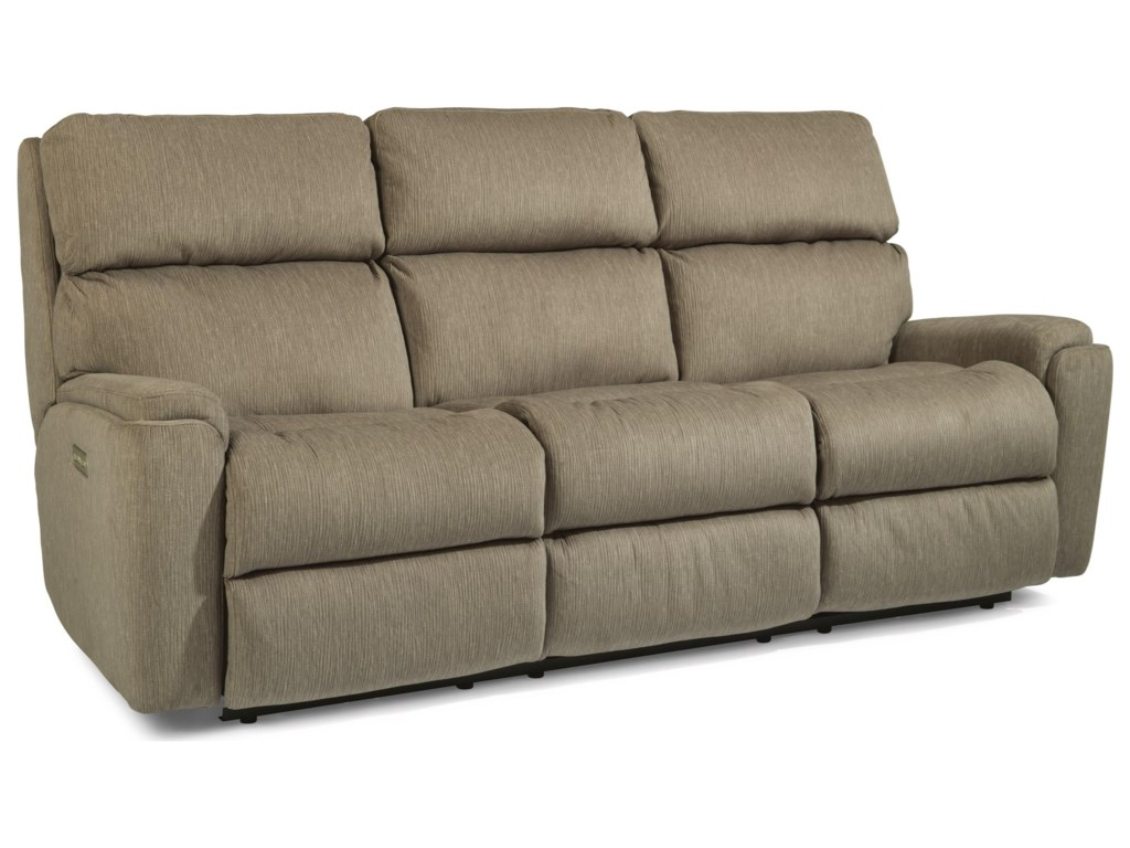 Flexsteel RioPower Reclining Sofa with Power Headrests