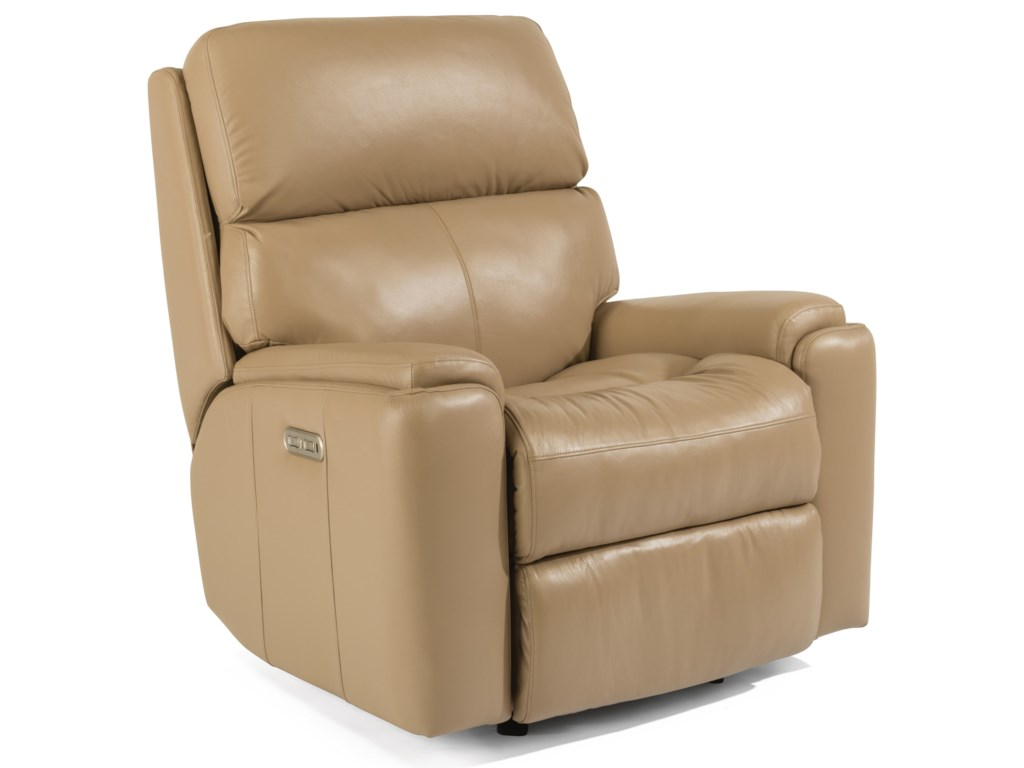 Flexsteel ValorPower Rocking Recliner with Power Headrest