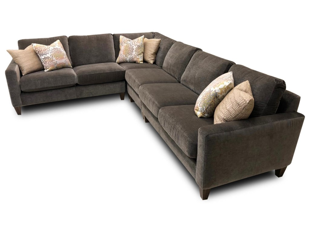 River Contemporary 4-Piece Sectional by Flexsteel at Ruby Gordon Home