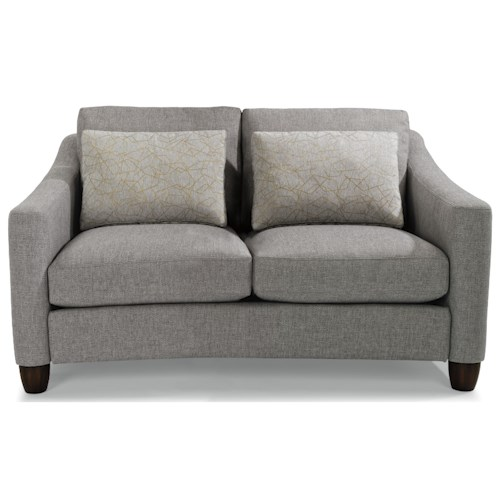 Flexsteel Sasha 7940 Contemporary Love Seat with Rounded Feet