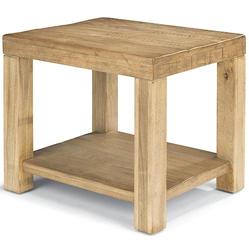 Flexsteel Sawyer Lamp Table with Block Legs