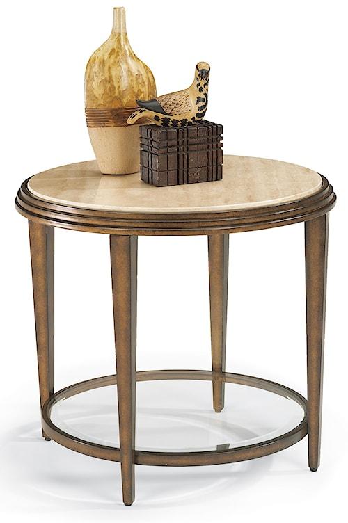 Flexsteel Seville Round Metal Lamp Table