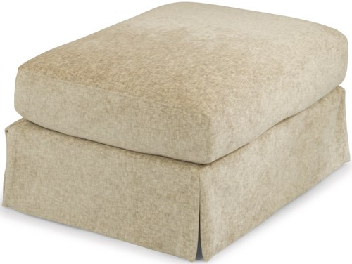 Flexsteel Sonia Transitional Skirted Ottoman with Casters