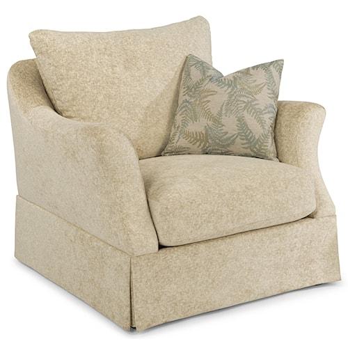 Flexsteel Sonia Transitional Skirted Chair