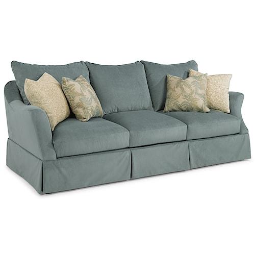 Flexsteel Sonia Transitional Skirted Sofa