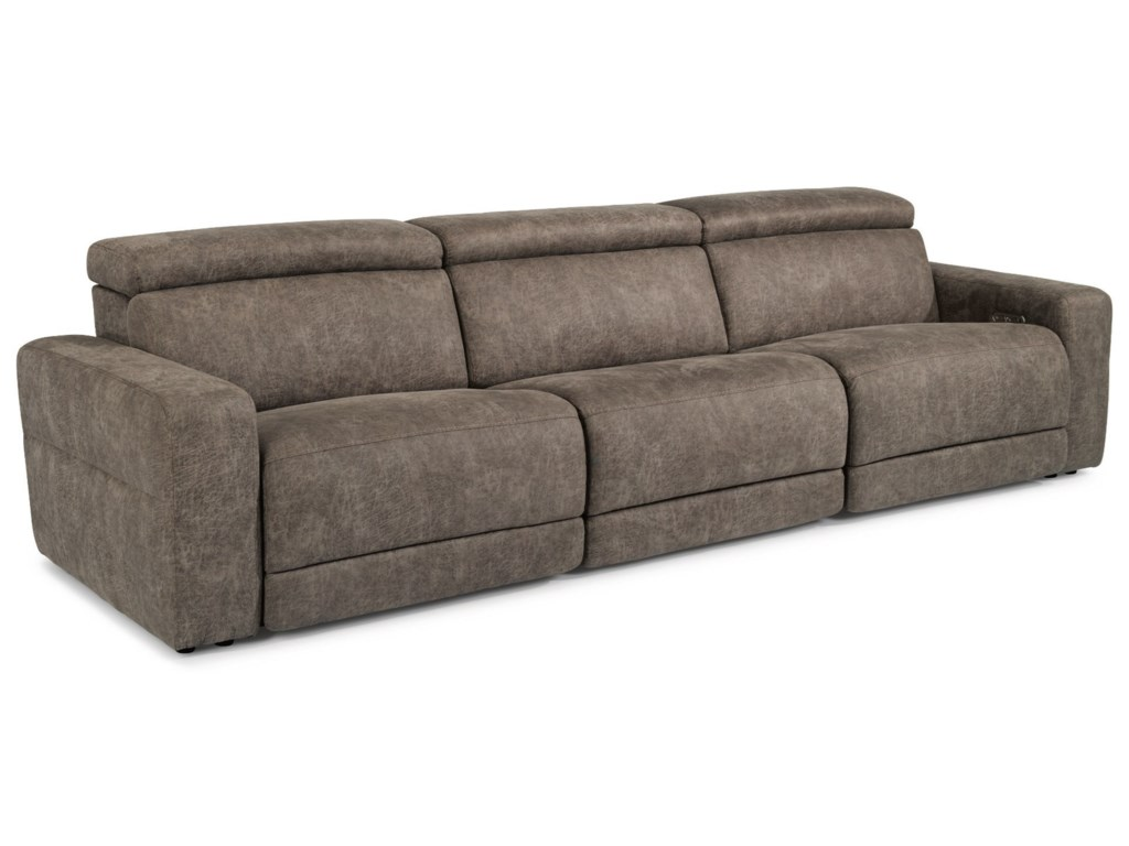 Flexsteel Latitudes - SonicReclining Sofa with Power Headrests