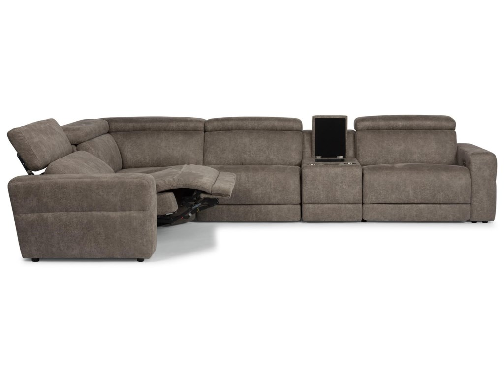 Flexsteel Latitudes - SonicReclining Sectional with Power Headrests