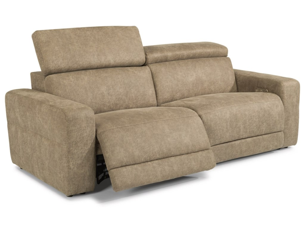 Flexsteel Latitudes - SonicPower Reclining Loveseat w/ Power Headrests