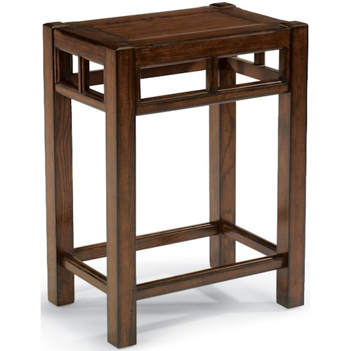 Flexsteel Sonoma End Table with Slat Accents