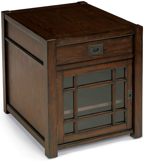 Flexsteel Sonoma Chairside Chest with One Door and One Drawer