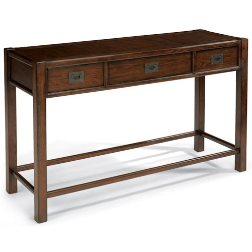 Flexsteel Sonoma Sofa Table with Three Drawers