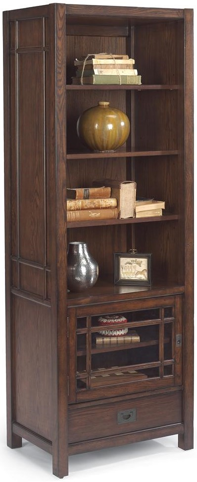 Flexsteel Sonoma Entertainment Pier with Four Shelves