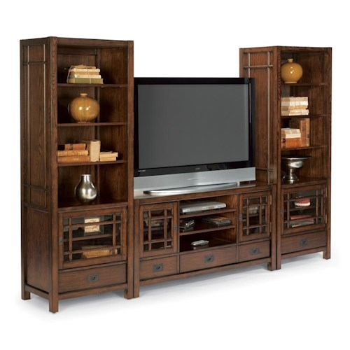 Flexsteel Sonoma Entertainment Center with Ample Storage