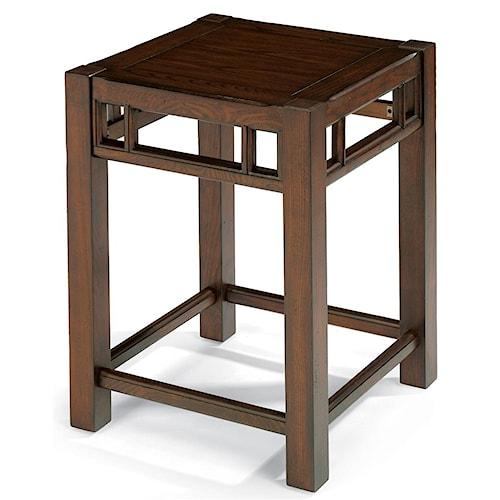 Flexsteel Sonoma Chair Side Table with Oak Top