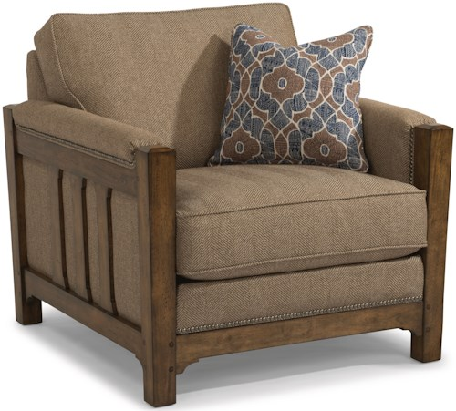 Flexsteel Sonora Mission Chair with Nailhead Trim
