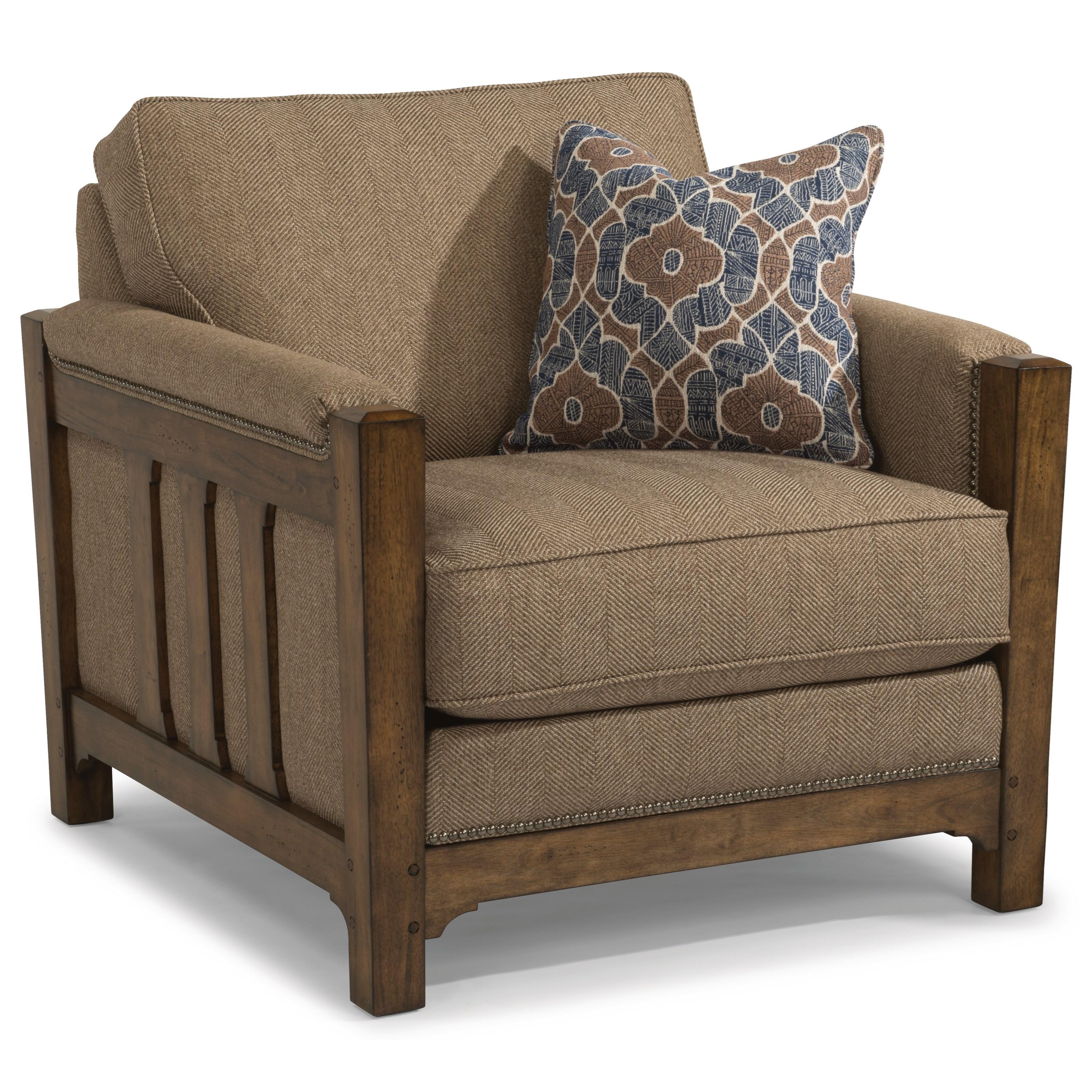 Merveilleux Flexsteel Sonora Mission Chair With Nailhead Trim | Crowley Furniture U0026  Mattress | Upholstered Chairs