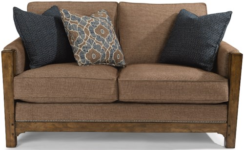 Flexsteel Sonora Mission Love Seat with Nailhead Trim