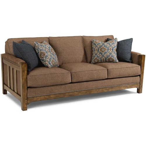 Flexsteel Vail Sofa Review: Flexsteel Sonora Mission Sofa With Nailhead Trim