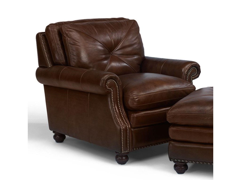 Flexsteel Latitudes-SuffolkUpholstered Leather Chair