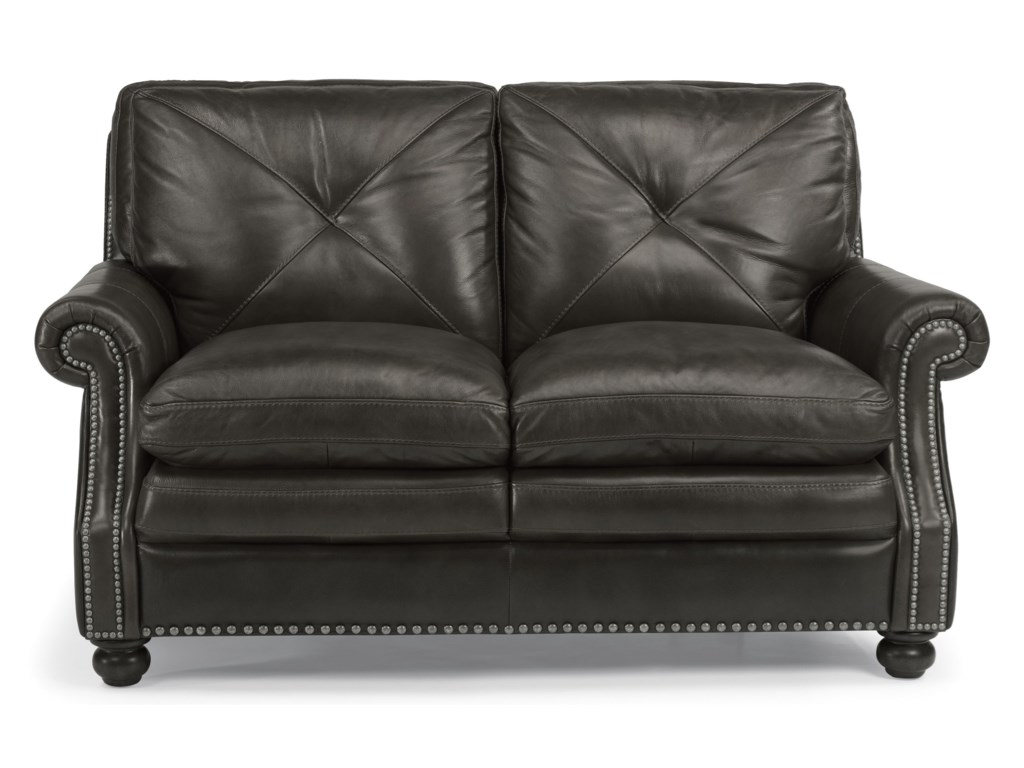 Flexsteel Latitudes-SuffolkLeather Stationary Loveseat