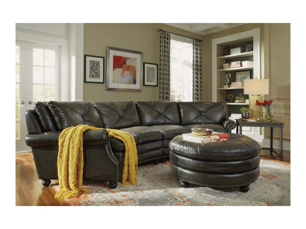 Flexsteel Latitudes-SuffolkRound Sectional Sofa