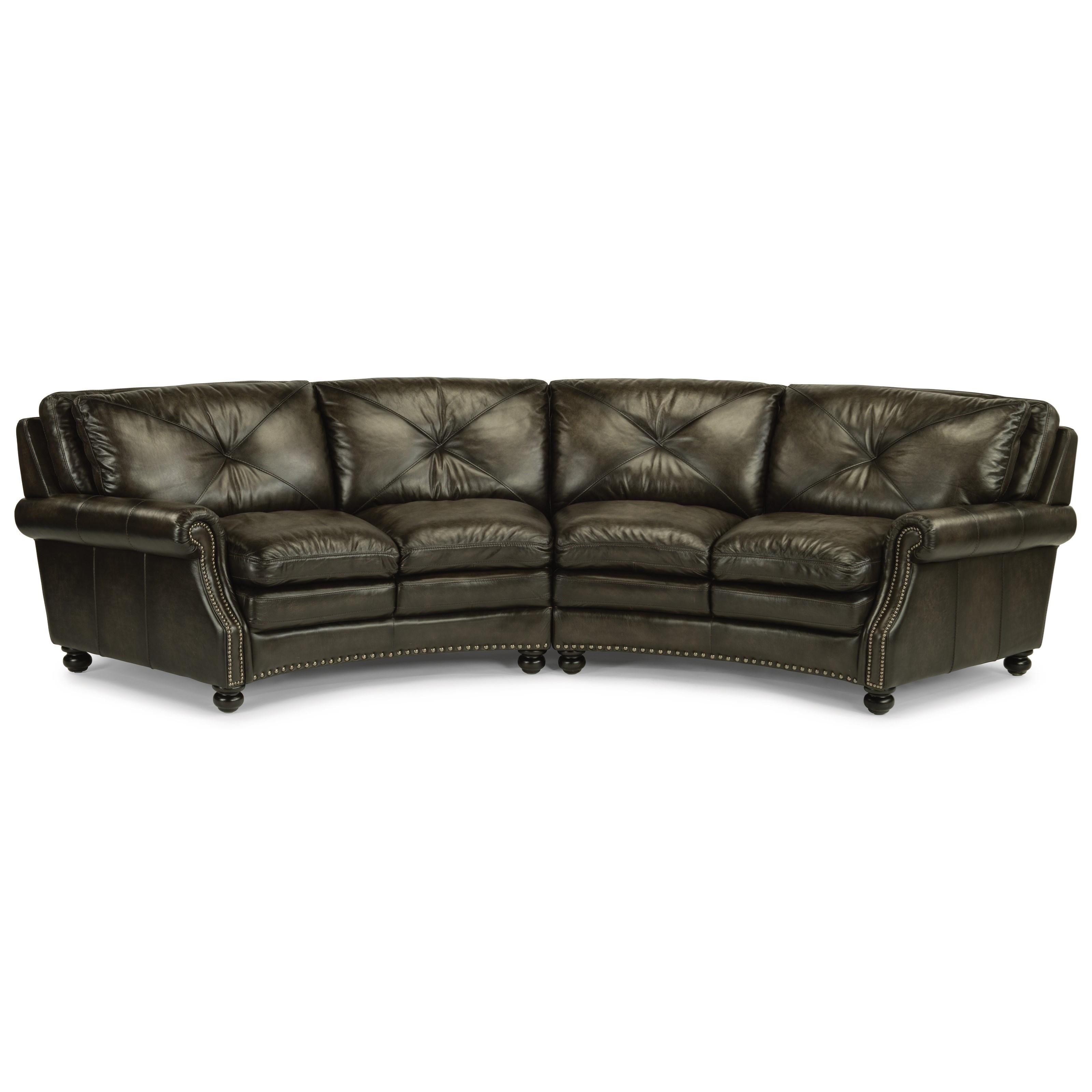 Merveilleux Flexsteel Latitudes Suffolk Round Sectional Sofa With Nailhead Trim