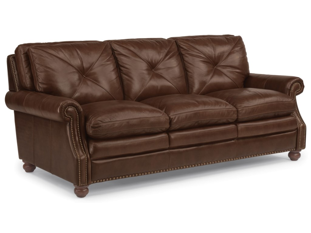 Flexsteel Latitudes-SuffolkLeather Stationary Sofa