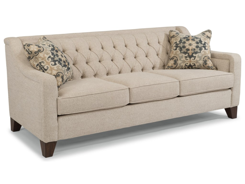 Flexsteel Sullivan Contemporary Sofa With Tufted Back Conlin S Furniture Sofas