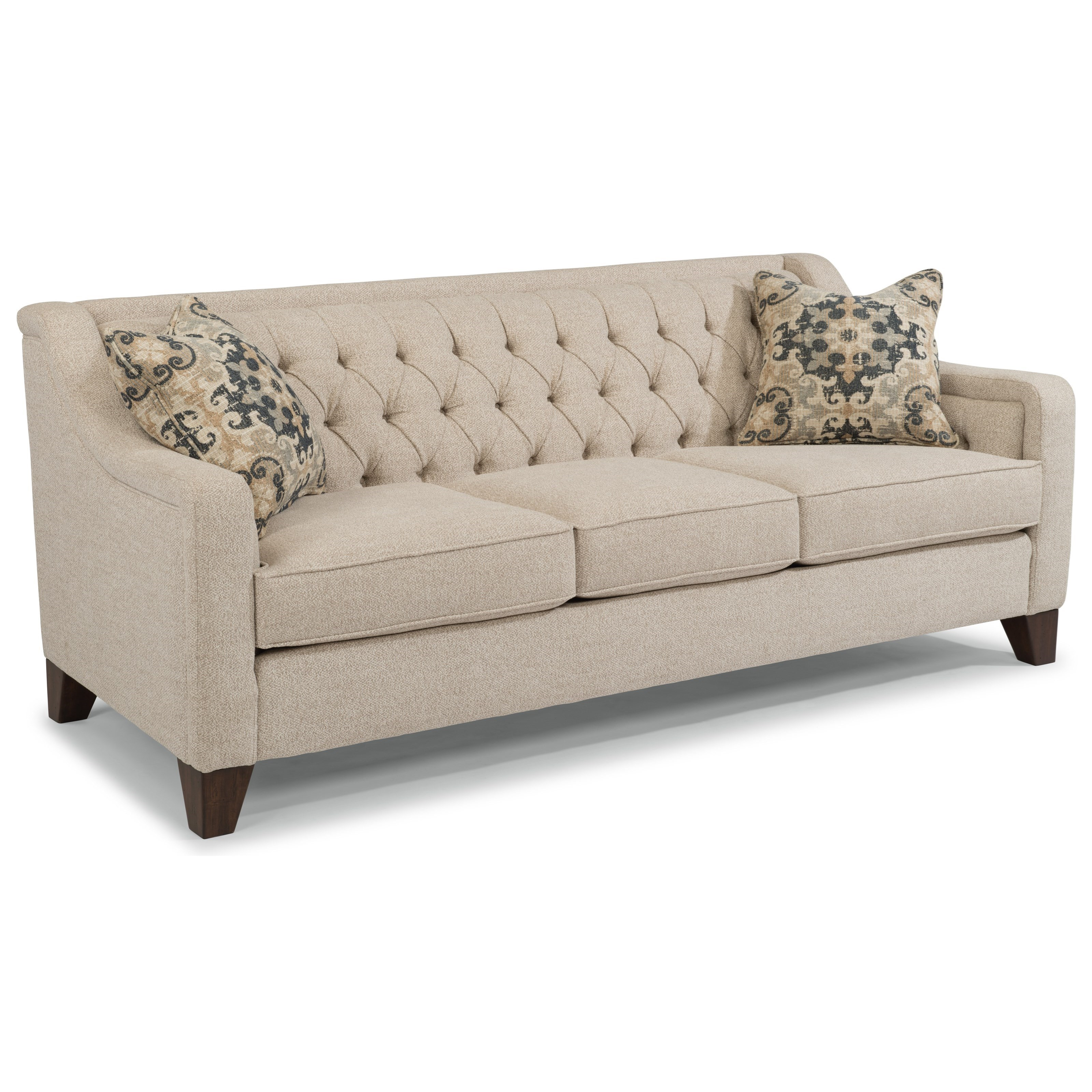 Genial Flexsteel Sullivan 7103 31 Contemporary Sofa With Tufted Back | Dunk U0026  Bright Furniture | Sofas