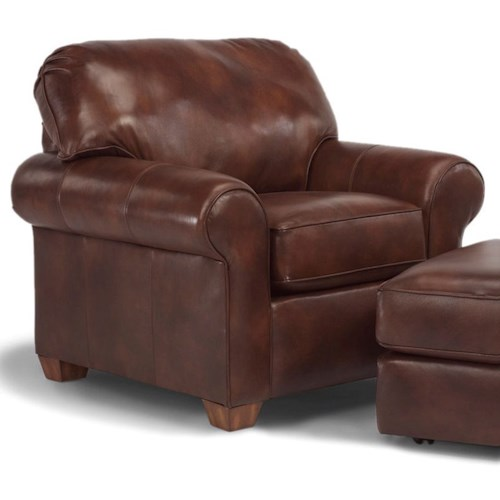 Flexsteel Thornton Upholstered Chair with Rolled Arms