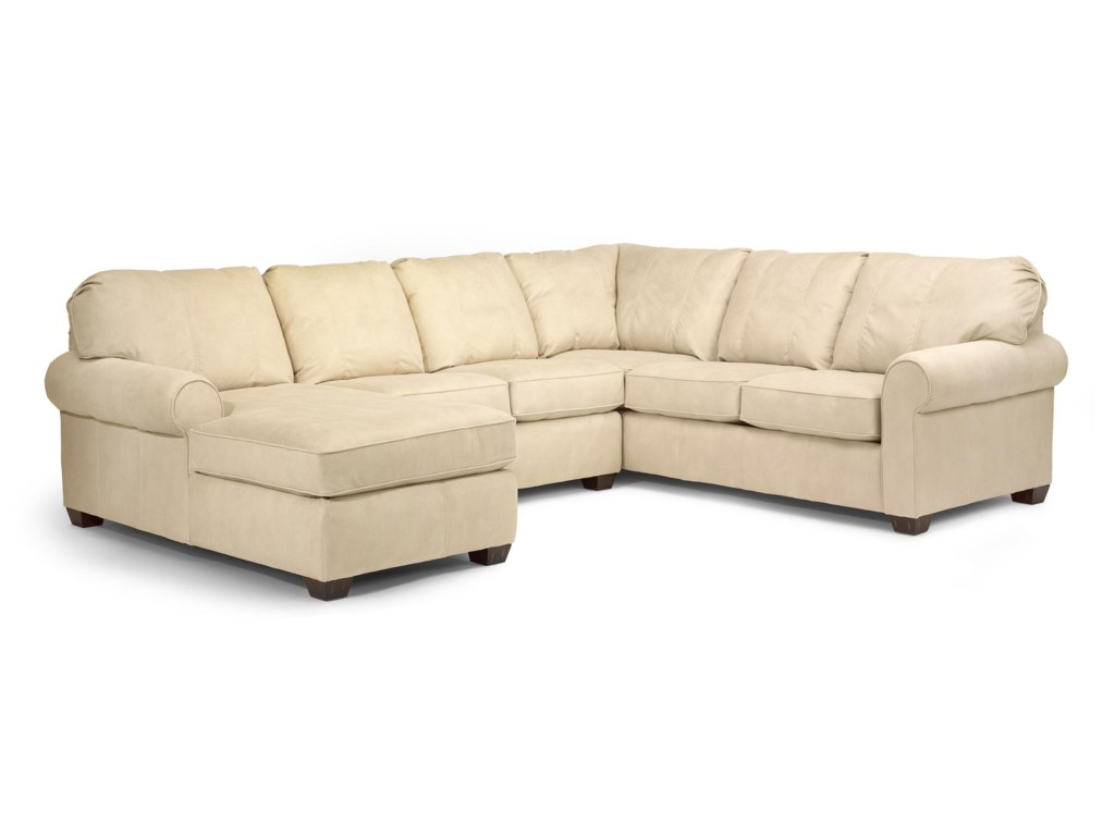 Flexsteel Thornton 3535-26+29+33 3 Piece Sectional with Chaise ...