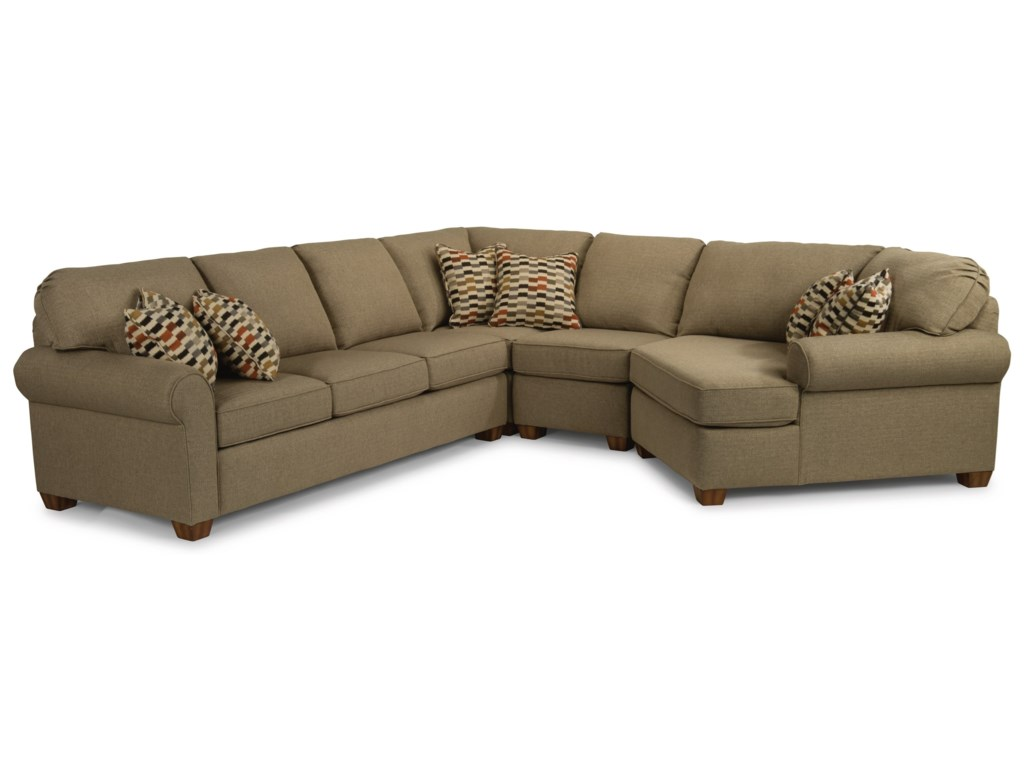 Flexsteel Thornton 4 Piece Sectional Sofa | Godby Home ...