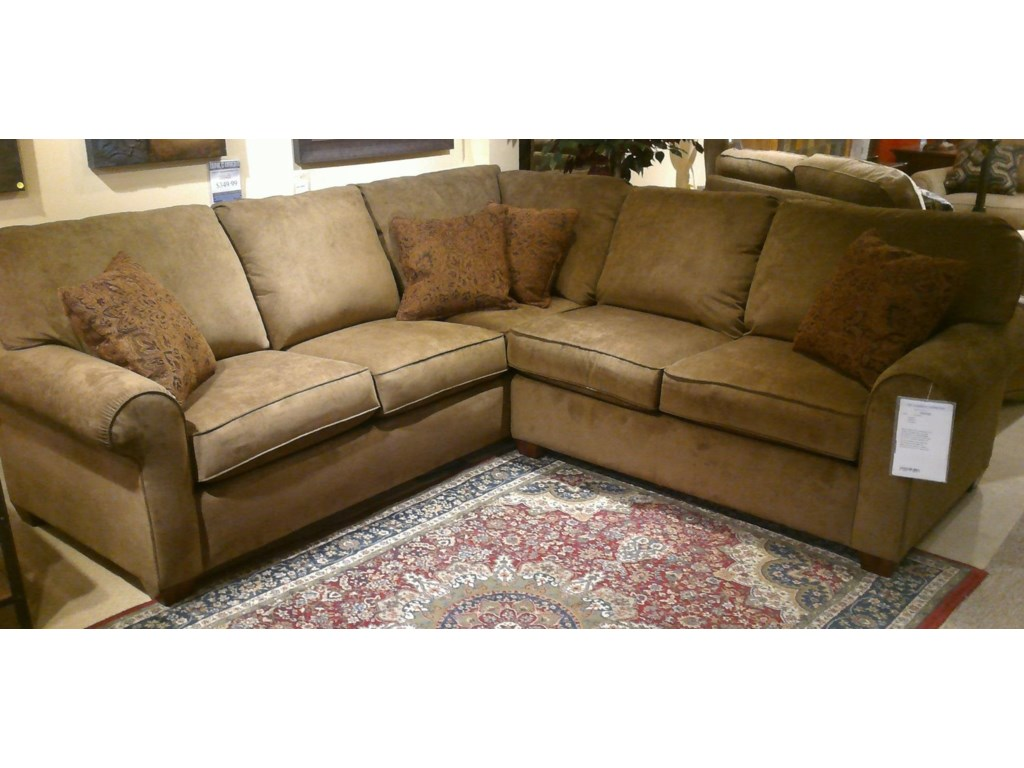Thornton 2 Piece Sofa Sectional by Flexsteel at Dunk & Bright Furniture