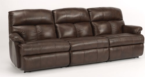 Flexsteel Triton  Three Piece Reclining Sectional Sofa with Center Recliner