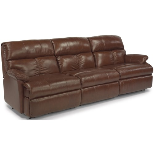 Flexsteel Triton  Three Piece Power Reclining Sectional Sofa with Center Recliner