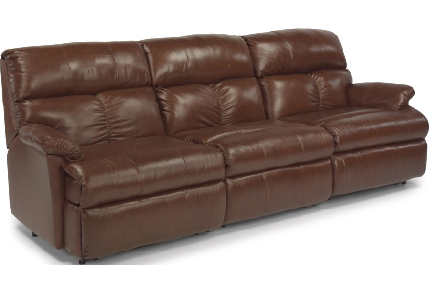 Triton Three Piece Reclining Sectional Sofa with Center Recliner by  Flexsteel at DuBois Furniture