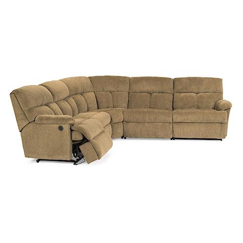 Flexsteel Triton  Power Reclining Sofa Sectional