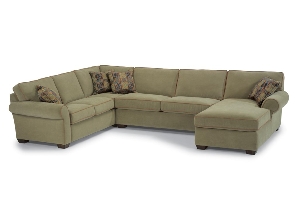 Flexsteel PaigeThree Piece Sectional with Chaise